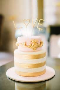 gold wedding cake pink and gold wedding cakes