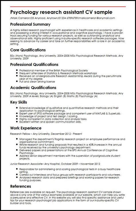 personal statement assistant psychologist