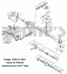 Dodge Dana 44 Disconnect Front Axle Parts For Dodge W150