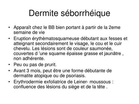 dermite de siege ppt dermatologie pediatrique powerpoint presentation
