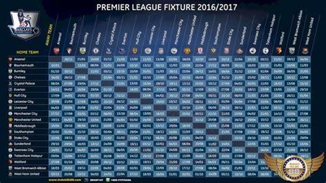 wallpaper jadwal pertandingan liga inggris