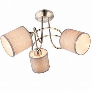 Lampe Grau Stoff : decken lampe arbeitszimmer strahler stoff schirm grau b ro leuchte geschwungen ebay ~ Indierocktalk.com Haus und Dekorationen