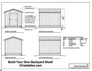 8x10 shed plans materials list free