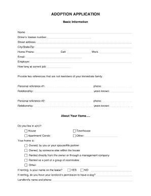 Dog Adoption Form - Fill Online, Printable, Fillable