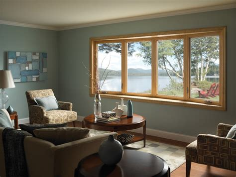 Ideas For Windows In Living Room by Bow Window Contemporary Living Room By Ply Gem