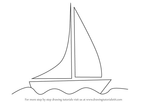 How To Draw A Boat Sailing by Learn How To Draw A Boat For Boats And Ships Step