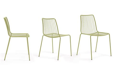 chaise pedrali nolita pedrali chair in metal stackable for outdoor use