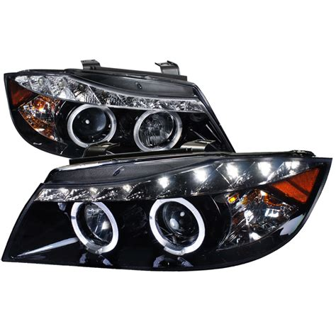bmw halo lights 06 08 bmw 3 series e90 led eye halo projector