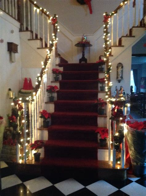 christmas staircase decorations furniture ideas