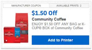 High Value Community Coffee Coupons   Walmart Rollback Matchups