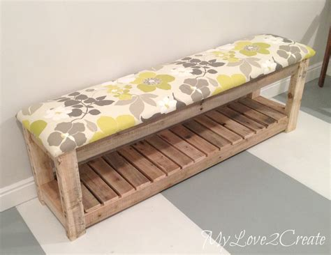 diy upholstered bench  love  create