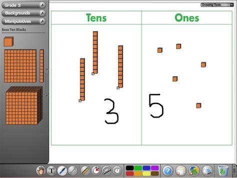 virtual maths manipulatives primary tech