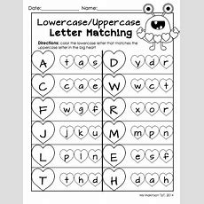 February Printable Packet  Kindergarten Literacy And Math Uppercaselowercase Letter Matching