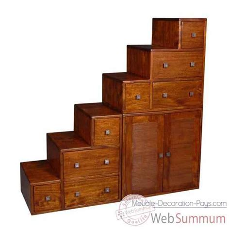 meuble escalier avec casiers et portes stri 233 meuble d