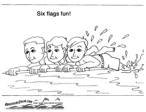swimming safety coloring pages   print