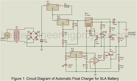 Automatic Battery Float Charger Circuit