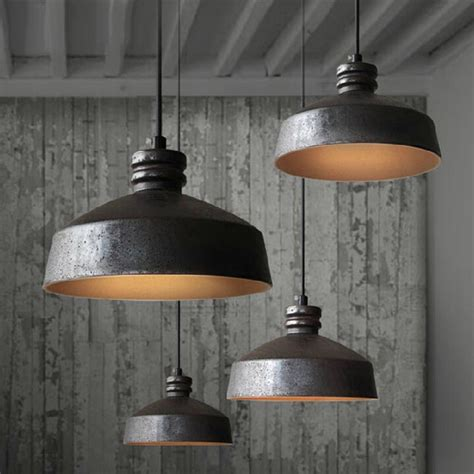 tom dixon loft2 rh ceramic and rusted iron inside pendant