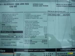 2011 Chevrolet Silverado 1500 Ls Regular Cab 4x4 In Black