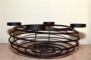 Große Kerzenständer Metall : adventskranz 40 cm aus metall f r 4 kerzen kerzenst nder ~ Indierocktalk.com Haus und Dekorationen