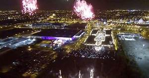 Watch: Drone video gives bird's-eye view of spectacular ...