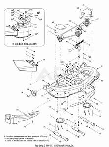 Mtd 13au614h755  2004  Parts Diagram For Deck Assembly