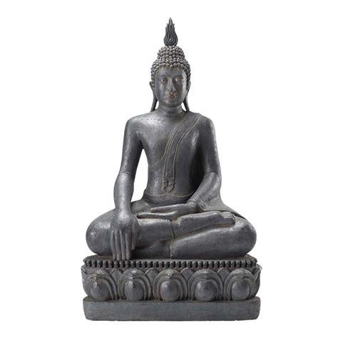 chambre bébé garçon statue bouddha assis en résine grise h 150 cm maisons du