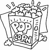 Popcorn Coloring Pages Activity Word sketch template