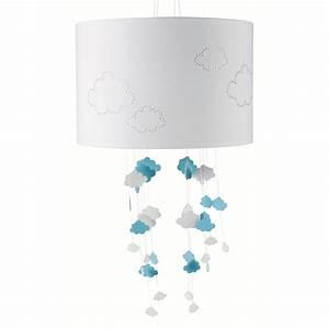Suspension Maison Du Monde : suspension non lectrifi e en tissu blanc bleu d 30 cm nuages maisons du monde ~ Preciouscoupons.com Idées de Décoration