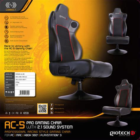 gioteck rc5 professional high end gaming chair ps4 ps3