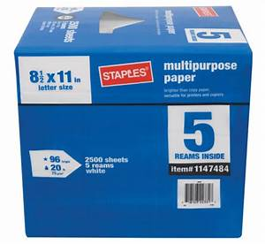 staples 8 1 2 x 11 letter size paper 5 ream case paper 1 With half letter size paper staples