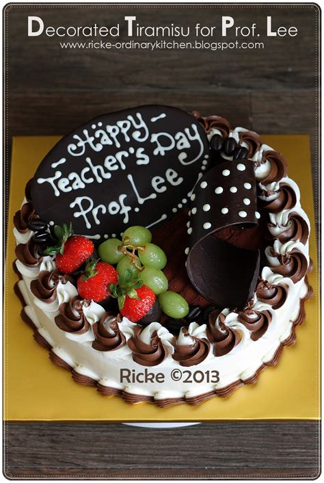 Just My Ordinary Kitchen : TEACHER'S DAY CAKE FOR