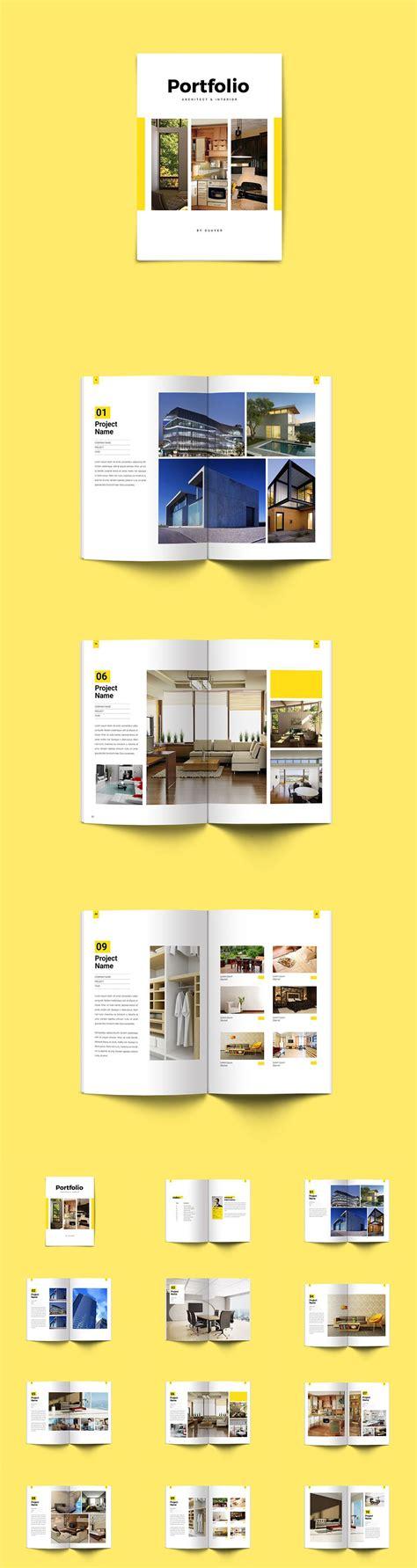 template plaquette indesign minimal interior architecture portfolio brochure