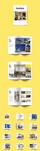 minimal interior architecture portfolio brochure With indesign portfolio template