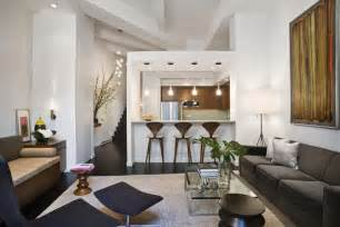 Contemporary Floor Lamp With Table Attached by Loft Style Apartment Design In New York Idesignarch