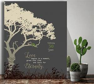 50th wedding anniversary tree gift anniversary gift for With tree as wedding gift
