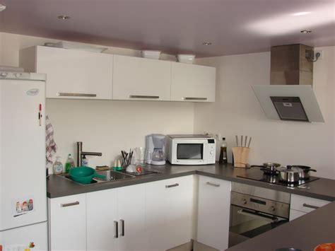 photo deco cuisine deco cuisine blanc et gris