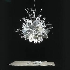 Porca miseria!: porcelain shards chandelier by Ingo Maurer