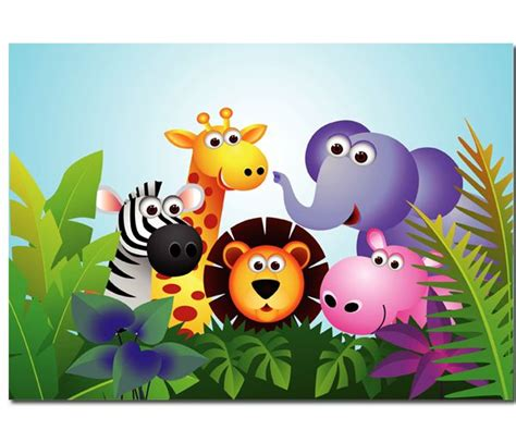 Animated Jungle Wallpaper - animated jungle animals calebs birthday