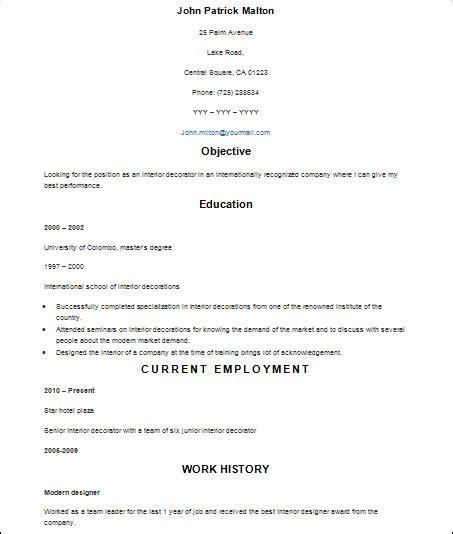 sample basic resume  documents  word