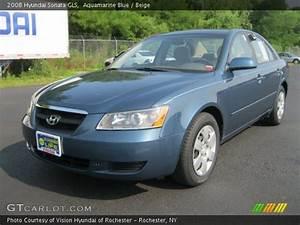 Aquamarine Blue 2008 Hyundai Sonata GLS Beige Interior