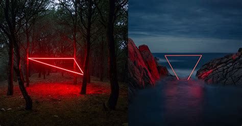 geometric light installations  nicolas rivals bathe