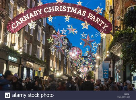 christmas decorations in wandswarth shopping centre london decorations carnaby 2016 stock photo 90890521 alamy