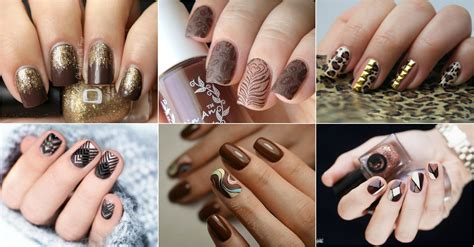 brown nail designs  copy  fall