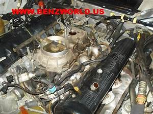 Mercedes Benz 560 Engine Intake Manifold Removal   Gasket