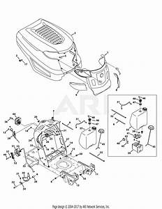 Troy Bilt 13wx78ks011 Bronco  2012  Parts Diagram For Hood