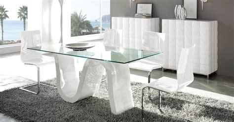 contemporary rectangular glass top contemporary dining
