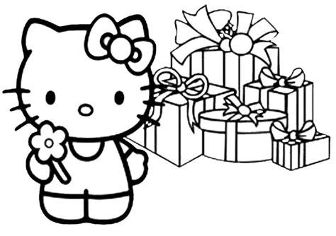 Ausmalbilder Geburstag Hello Kitty-10
