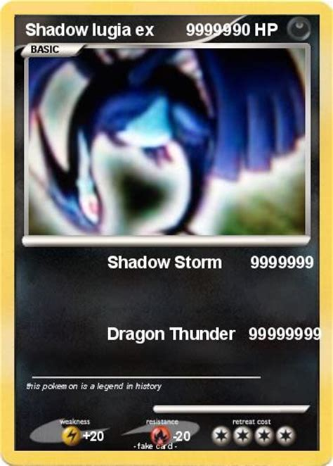 Pokemon shadow lugia dx gold metal card custom holo promo. Pokémon Shadow lugia ex 99999 99999 - Shadow Storm 9999999 - My Pokemon Card