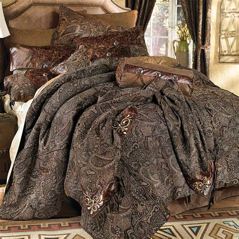 western bedding queen size western paisley beaumont bed