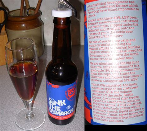 tasting notes brewdog sink the bismarck alcohol and